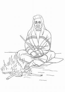 Ausmalbild Indianer Am Lagerfeuer Malvorlage Indianer Am Lagerfeuer Ausmalbild 18247 Images