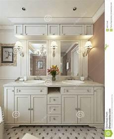 Bathroom Vanities Classic Style Stock Illustration