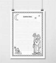 beginning worksheets 18792 sint brief gratis brief sinterklaas template