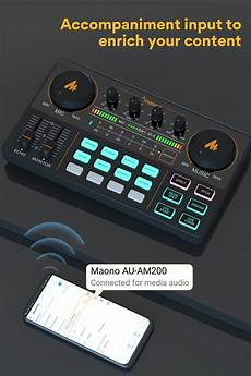 Bakeey Professional Channel Sound Card Channel by Maonocaster Audio Interface Recording Multi Channel Mixing