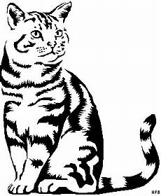 Kostenlose Malvorlagen Tiere Silhouette Gestreifte Katze 2 Ausmalbild Malvorlage Tiere Wood