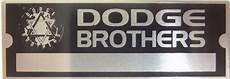 dodge brothers vin trim number plate serial tag paint code chrysler for sale