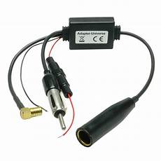 dab aktiv antenne splitter adapter auto radio f jvc real