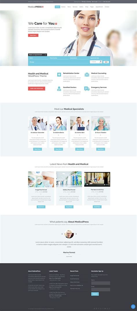 medicalpress health and medical wordpress theme