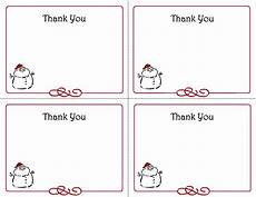 printable christmas thank you card templates thank you cards pinterest card templates