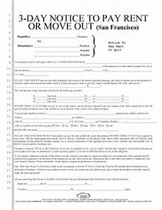 fillable online 103 c 3 day notice to pay rent or move out