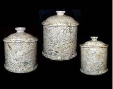 large kitchen canisters large coral marble kitchen canisters set of 3