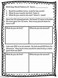 multi step word problems adding and subtracting to 100 common core 2 oa 1 multi step word