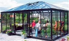 Glaspavillons Palmen