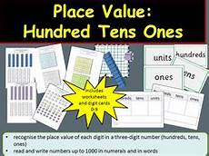 place value hundreds tens ones units teacher notes digit cards worksheets activities by ro