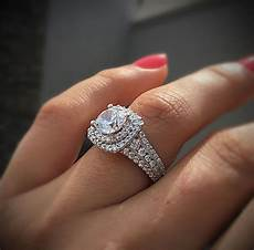 gabriel co engagement rings double halo 1ctw diamonds in 2019 engagement ring trends