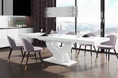 esstisch weiss hochglanz design esstisch tisch heb 111 wei 223 hochglanz ausziehbar
