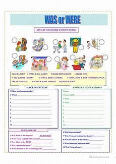 was were worksheet free esl printable worksheets made by teachers
