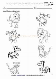 jungle animal worksheets 14319 jungle animals worksheet activity sheet match 7 jungle animals preschool kindergarten