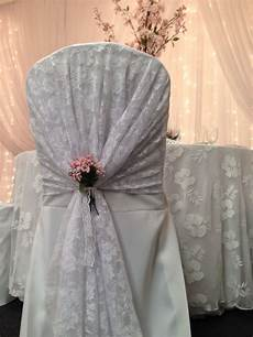 new in lace hooded chair covers with pink flowers
