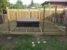 do it yourself builds how to build a deck with a tub