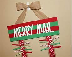 merry mail christmas card holder glitter glue glam christmas card holders crafts