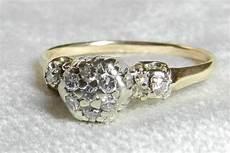 vintage diamond engagement ring quarter carat tdw