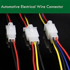 10pcs 2 8mm automotive electrical wire connector 2 3 4 18awg 30cm motorcycle car