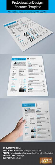 indesign resume template on behance