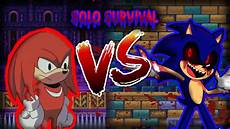 sonic exe the spirits of hell knuckles solo survival youtube