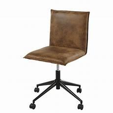 chaise de bureau 224 roulettes en microsu 232 de marron atelier