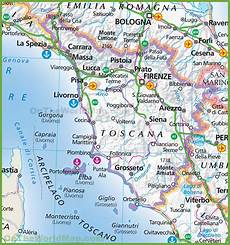Tuscany Map Italy And Travel Information Free