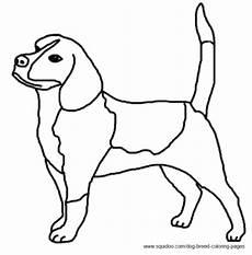 Ausmalbilder Hunde Beagle Beagle Coloring Picture