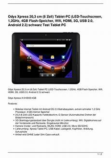odys xpress 20 3 cm 8 zoll tablet pc led touchscreen 1