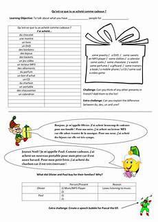 cadeaux de no 235 l christmas presents worksheet by monsieurctd teaching resources