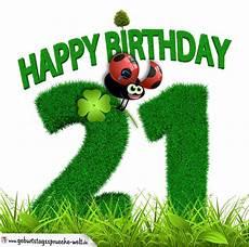 21 Geburtstag Als Graszahl Happy Birthday