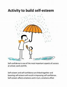 activity to build self esteem