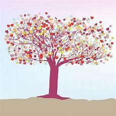Vorlagen Herzen Malvorlagen Romantik Romantische Baum Mit Herzen Vorlage Karte Vektorgrafik