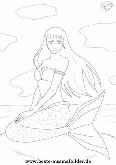 Meerjungfrauen Malvorlagen Gratis Ausmalbild Meerjungfrau Kostenlose Ausmalbilder F 252 R