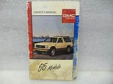 free online auto service manuals 1993 gmc jimmy seat position control gmc s15 jimmy 1989 owners manual 17396 ebay