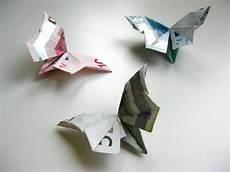 geld falten diy origami geldschein schmetterling
