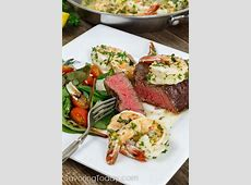 Grilled Steak and Shrimp Scampi for Two: Surf & Turf Date