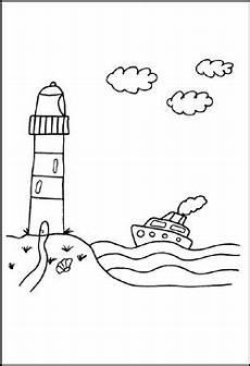 Malvorlage Urlaub Am Meer Malvorlagen Schiffe Und Boote