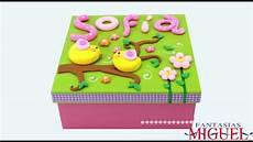 cajas decoradas en fomi caja regalo con fomi moldeable youtube