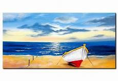 tableau design bateau sur la plage paysage marin