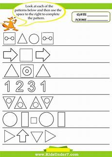 patterns worksheets for toddlers 261 7 pattern recognition worksheets sucesiones estimulacion cognitiva patrones