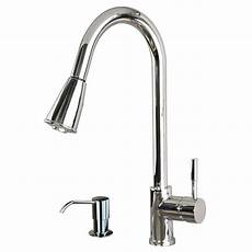 faucet sink kitchen contemporary 16 quot pull spray kitchen sink faucet with soap dispenser chrome ebay