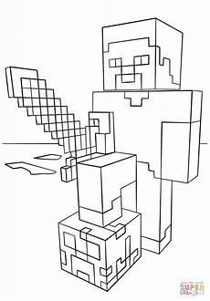 Zauberer Malvorlagen Minecraft Neu Minecraft Ausmalbilder Zum Ausdrucken Steve Top