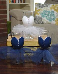 bridal party wine glasses painted by barnandheartdesign in 2019 bridal wine glasses