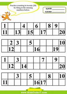 fill in the missing numbers worksheets education pinterest a well number worksheets and