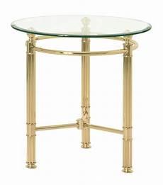 beistelltisch rund glas madeira glass top gold end table 47251
