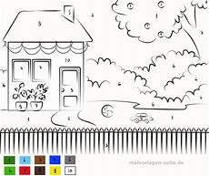 Ausmalbilder Haus Und Garten Malen Nach Zahlen Haus Mit Garten Kostenlose Ausmalbilder