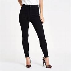 jean taille haute noir noir