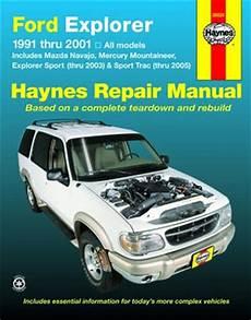 free online car repair manuals download 1991 mercury capri electronic throttle control ford explorer mazda navajo mercury mountaineer haynes repair manual 1991 2005 hay36024