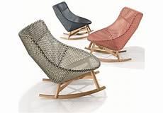 chaise rocking chair mbrace dedon rocking chair milia shop